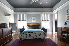 Ceiling. Eclectic Bedroom by Sarah Greenman