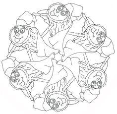 6 verschillende..Sport Mandala Ausmalbilder zum
