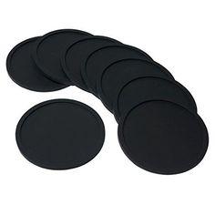 Barmix Gummi Silikon Drink Untersetzer (Set von 8�St�ck), schwarz