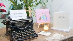 Los cuentos arropando a la máquina de escribir en The Wedding Fashion Night ^^