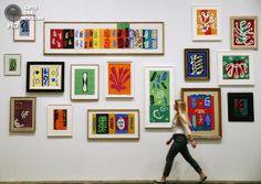 Великобритания. Лондон. 14 апреля. Картины Анри Матисса в галерее «Тейт Модерн». (REUTERS/Luke MacGregor)