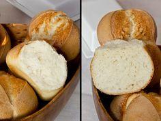 Kleinporig, fluffig und rösch: doppelte Weizenbrötchen