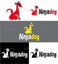 Ninjadog Logo Design Template Vector #logotype Download it here: http://graphicriver.net/item/ninjadog-logo/3185691?s_rank=61?ref=nesto