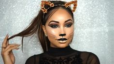 Melly Sanchez Glam Cat #makeup #mellysanchez #halloween #catmakeup #halloweenmakeup #cutcrease