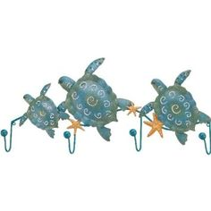 Regal Art & Gifts 3 Sea Turtle Decorative Wall Hook