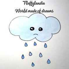 Smurfs, Hello Kitty, Sad, Clouds, Sweet, Fictional Characters, Cloud