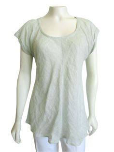 b566565c Lovely Eileen Fisher bias cut linen top in pale sage green! Made out of a