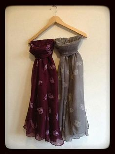 Purple and Grey Owl Scarves  £7.00 +postage  Find us on Twitter & Pinterest