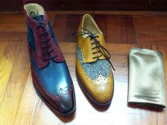 enjoy the aspect of individuality and uniqueness #patina #patine #handmade #bespoke #tweed #calfskin #suede #leather