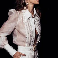 all white summer outfit idea, summer outfits women casual fashion ideas color combos, summer outfits women style inspiration Ol Fashion, Fashion Looks, Fashion Week, Fashion Details, Womens Fashion, Fashion Design, Fashion Ideas, White Fashion, Runway Fashion