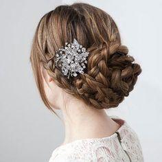 Vintage Style Swarovski Crystal Hair Comb, Wedding Hair Comb, Hair Accessory, Bride Hair Piece Jewelry, Bridal Gift-156119589