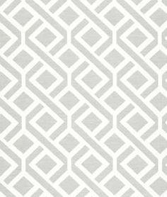 Robert Allen Diamond Maze Bone Fabric