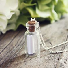 Message in a Bottle Necklace, Women's Sweet Country Inspired Jewelry
