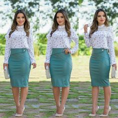 Photo by Malibu Moda Evangélica on June La imagen puede contener: 3 personas Work Fashion, Modest Fashion, Fashion Outfits, Fashion Tips, Curvy Outfits, Casual Summer Outfits, Corporate Attire, Latest African Fashion Dresses, Professional Outfits