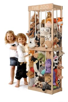 A way to store stuffed animals or other things. I would love this. It comes in 3 sizes I believe.