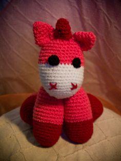 Unicorn soft crochet stuffed toy by AnnaSHandMD on Etsy,