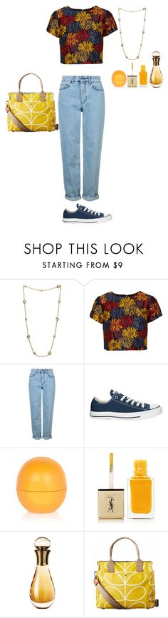 """""""fleur d'automne"""" by lila-flora ❤ liked on Polyvore featuring Elizabeth Cole, Alice + Olivia, Topshop, Converse, River Island, Yves Saint Laurent, Christian Dior and Orla Kiely"""