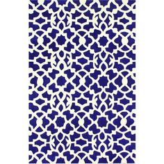 Kamran Blue Hand Tufted Rug ($271) ❤ liked on Polyvore featuring home, rugs, plush area rugs, blue area rugs, blue rugs, plush rugs and polyester rugs