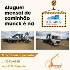 A Locares possui uma frota de caminhões munck  que são revisados periodicamente por uma equipe ...