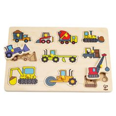 Construction Site Peg Puzzle at Hape Toys