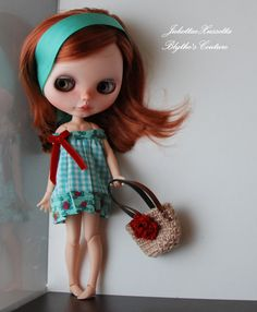 Blythe spring set with dress and handbag by juliettaexussetta on Etsy