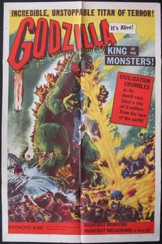 Godzilla Movie Posters Original and Vintage