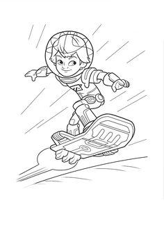 Desenhos do menino Miles do amanhã para colorir, pintar, imprimir! Miles do futuro para pintar desenhos, moldes e riscos - Espaço Educar desenhos para colorir