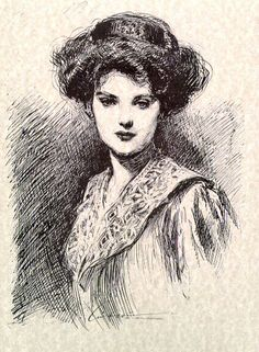 ≒ Gibson Girls ≓ Illustrations from the Belle Époque - Charles Dana Gibson