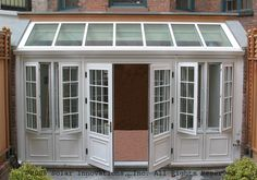 French sunroom with recycled windows   ... with a Complete Window and Door Line to Complement Conservatories