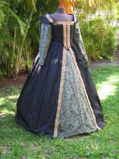 Black Silk Renaissance Gown