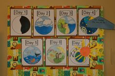 Easy activities for teaching the days of creation to toddlers/preschoolers.