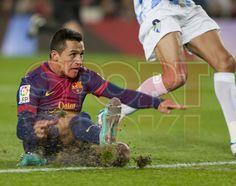 Alexis Sánchez, FC Barcelona   FC Barcelona, 2 - Málaga, 2.   Copa del Rey. [16.01.13]