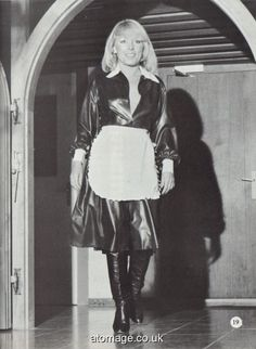 Atomage Pictures A5 Edition 27 Leather Dresses, Leather Outfits, Latex Costumes, Latex Lady, Pvc Raincoat, Sissy Maid, Sexy Latex, Vintage Magazines, Rain Wear
