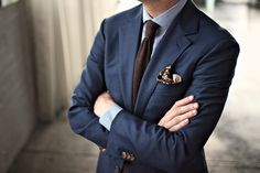 P Johnson suit, Kent Wang knit tie, Gieves & Hawkes pocket square.