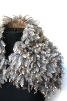 Felted Scarf Ahimsa Fur by FeltedPleasure