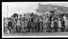 "1922 Bathing Beauties Galveston TX Pageant of Pulchritude Panoramic Photo 24"""
