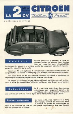 Citroen 1954 in French Cadillac, Automobile, Traction Avant, Psa Peugeot, Le Cv, Car Brochure, Cabriolet, Car Advertising, Car And Driver