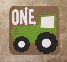 Tractor green and brown 20 Pack Birthday or by lovetiesbymeggin, $50.00