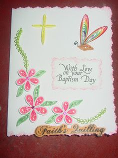 Faith's Quilling : Baptism Card