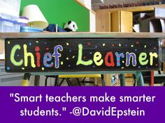 """Smart teachers make smarter students."" -David Epstein   #SXSWedu Quotes: Creating Opportunities, by Team Haiku Deck"