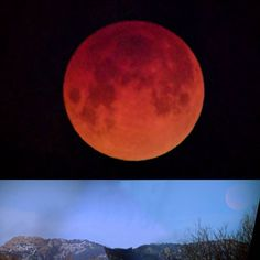 The photos I most enjoyed capturing during this morning's lunar eclipse: the eclipse at its fullest and the partially eclipsed moon setting behind Horsetooth Rock. #HorsetoothRock #moon #LunarEclipse #SuperBlueBloodMoon
