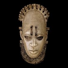 Ivory mask. Edo peoples. From Benin, Nigeria The palace of Benin is the center of ritual activity focused on the well-being and prosperity of the Edo peoples. Each year the Oba (king) of Benin performs in rituals in which he honors his royal ancestors to enhance the good fortunes of his people.