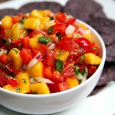 The Taste of Summer: Mango Red Pepper Salsa √