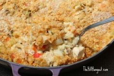 Garden Chicken and Rice from TheHillHangout.com is creamy, delicious, and full of chicken and veggies!