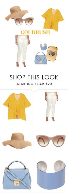 """""""Goldrush"""" by joemanaiadouglas on Polyvore featuring Melissa McCarthy Seven7, Old Navy, Mark Cross, Maison Margiela, Gucci and plus size clothing"""