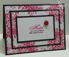 Stampin' Up! Bloomin' with Kindness Triple Layer Stamping by Debbie Henderson, Debbie's Designs.