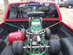 Repurposed Mini-Kegs: barstool racer with mini-keg fuel tank
