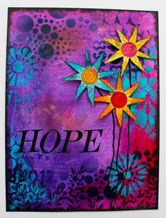 Art Journal ~ Hoping for Spring - Marjie Kemper
