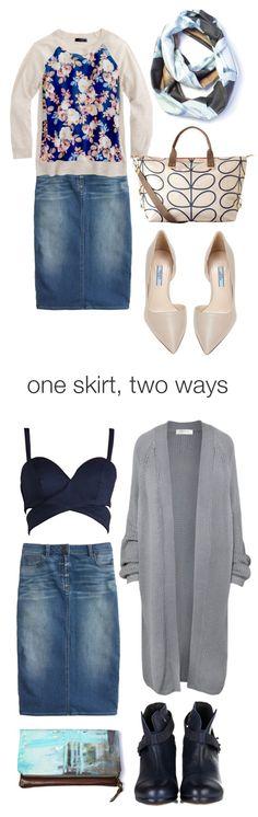 one skirt, two ways: day to night denim pencil skirt // via megan auman