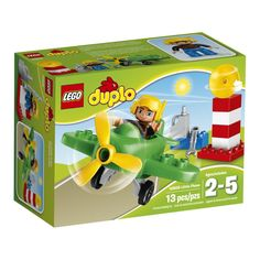 LEGO® DUPLO® Town Little Plane Safety check the LEGO® DUPLO® Little Plane then head for the skies! Go flying in this Little Plane with turning propeller but first use the fuel can to fill. Toys R Us, Toys For Boys, Kids Toys, Train Lego Duplo, Lego Duplo Town, Large Building Blocks, All Lego, Thing 1, Display